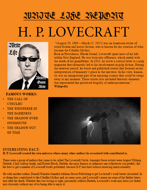 Lovecraft REPORT ENTRY