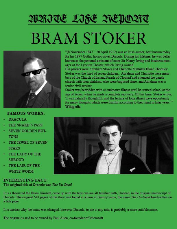 Stoker REPORT ENTRY