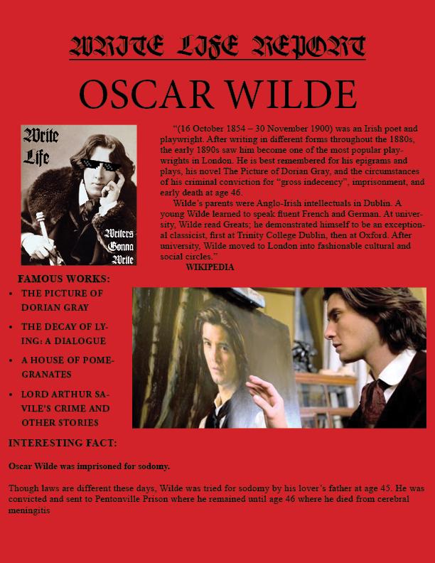 Wilde REPORT ENTRY