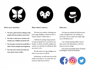 writing services; brochure